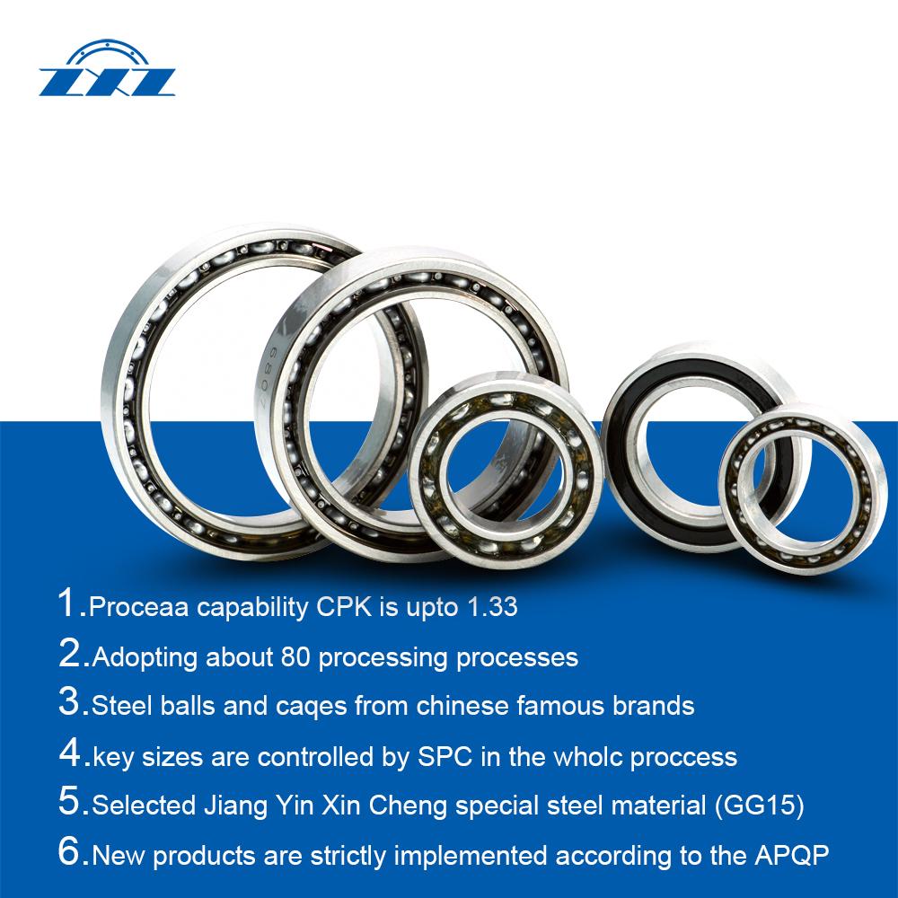 Sealed or opened DGBB steering bearings Type