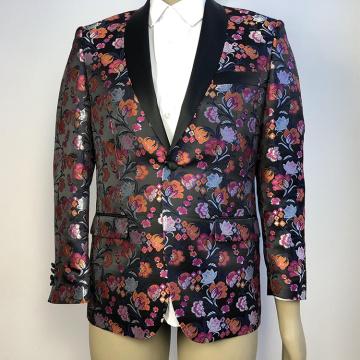 floral banquet wedding suit for men