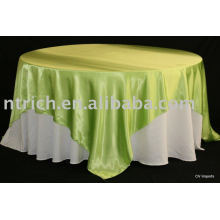 Mantel, mantel del poliester, cubierta de tabla de fiesta, ropa de mesa, recubrimiento satinado