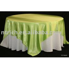 Toalha de mesa, toalha de mesa do poliéster, cobertura de mesa de festa, toalhas de mesa, mesa de cetim sobreposição