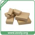Pequena Plain Eco-Friendly Natural Brown Papel Kraft Caixa de papelão