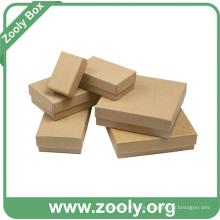 Pequeña Plain Eco-Friendly Caja de cartón de papel Kraft marrón natural