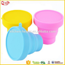 Food Safety Trave Drinking Non Stick Silicone Cup With Lid