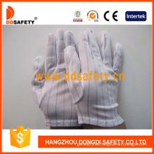 Guantes cosidos de nylon con dobladillo, guantes antiestáticos (DCH118)