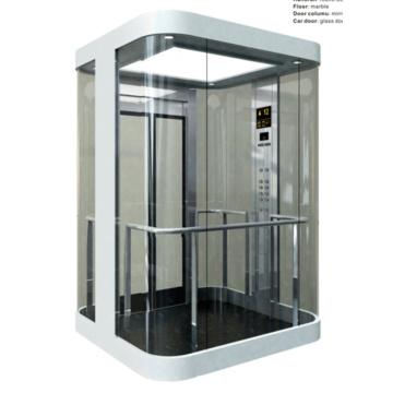 Стеклянный лифт 630кг