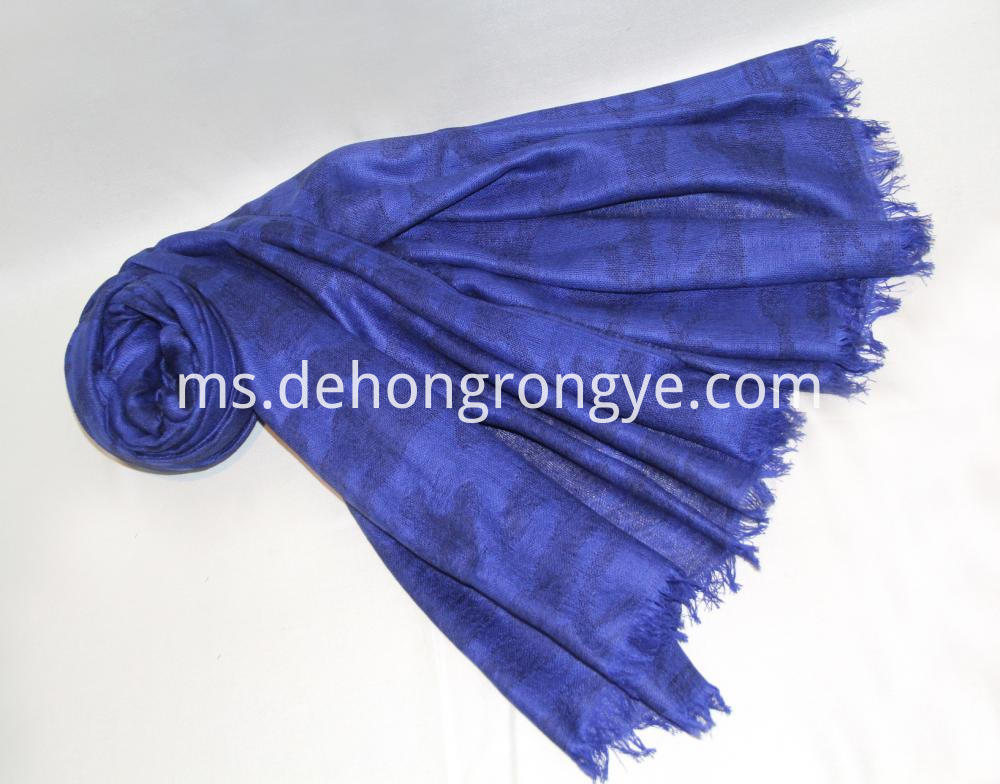 Blue Worsted Jacquard Camouflage Cape