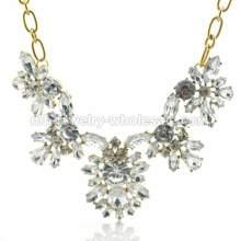 Hornhautdegeneration Acryl Perlen für reiche Kultur Damen Halskette