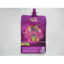 Jalea de frutas de plástico Embalaje de bebidas bolsa con salida