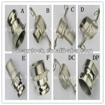 Stainless steel camlock coupling for liquid, fertilizers, steel plants