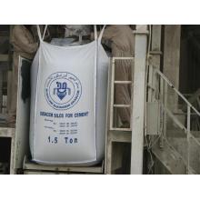 Bouton supérieur et inférieur FIBC Jumbo Bag for Bulk Cement