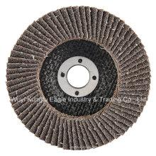 Discos abrasivos de aleteo de óxido de calcinación 4 '' (cubierta de fibra de vidrio 22 * 16 mm 40 #)