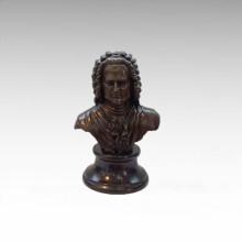 Bustos Estátua de Bronze Músico Bach Decoração Escultura de Bronze Tpy-806