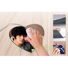 Popular 3mm Heart Shape Mouse Pad (230X200mm)