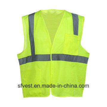 Colete respirável de segurança de malha reflexiva de alta visibilidade da China