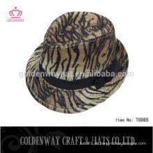 Großhandel Leopard drucken billig Fedora Hüte