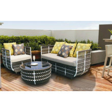 Quality China Rattan Wicker Ocio Mobiliario Sofá para Hotel Bistro Bar Deck Patio trasero