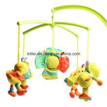 Le bourrelet bourré par musical doux a tourné des jouets en peluche d'enfants de bébé de peluche