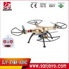Lo nuevo Drone Cámara Drone Profesional 4ch 6 Axis Gyro Juguetes de Control Remoto SYMA X8HC 2MP RC Helicóptero Racing Quadcopter
