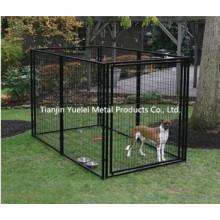Billig und langlebig PVC beschichtet schwarz Haustier Hund Käfig / Hund Vogel Papagei Käfig / Hund Katze Haustier Käfig