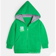 Sudadera con capucha de encargo del niño del OEM al por mayor, chaqueta con capucha de la cremallera del niño