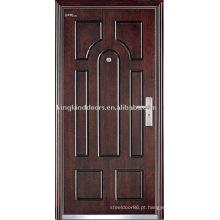 Porta de aço blindada (JKD-227) para a porta Exterior de aço de madeira e porta blindada Design