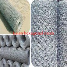 hebei anping KAIAN 18-24 gauge galvanized hexagonal wire mesh