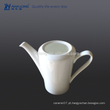 Pote de café árabe branco liso