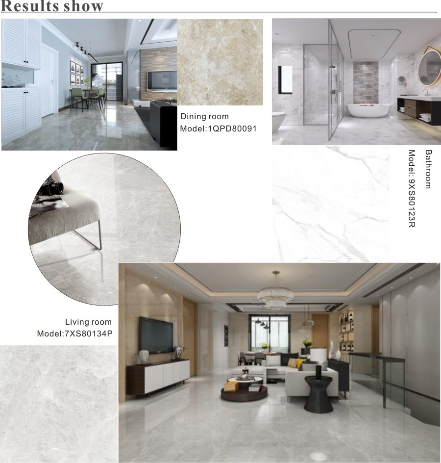 polished marble effect tiles