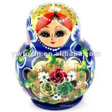 FQ marca mais popular moda bebê personalizado brinquedos boneca de madeira de nidificação