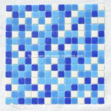 Мозаичная плитка Голубая стеклянная мозаика для плавательного бассейна Строительные материалы