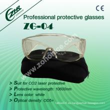 Zg-04 Gafas de seguridad 10600nm CO2 láser piezas de protección