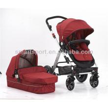 Carrinho de bebê com rodas de borracha