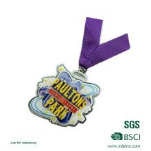 Récompense faite sur commande de concours de médaille de souvenir imprimée d'acier inoxydable