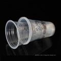 Copo de chá plástico descartável material marcado do leite dos PP da amostra 15oz
