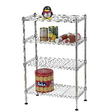 Chrome Living Room Metal Wire Rack (CJ452570C4C)