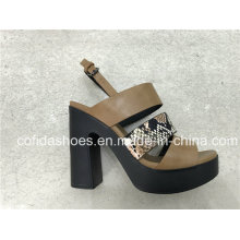 Simple Cool Sexy High Heels Fashion Snake Lady Sandals