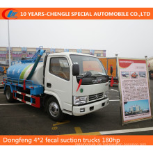 Dongfeng 4 * 2 fäkale Saugwagen 180HP