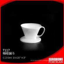 nouvelle arrivée durable blanc superbe tasse en céramique pour vaisselle