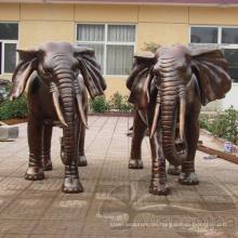 Hochwertiger franklin mint bronze afrikanischer elefant