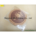Whole Sale Pure Cork with Silk Printing Logo Round Cork Coaster with SGS (B&C-G102)