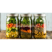 500ml 1000ml Food Storage Glass Mason Jar with Metal Screw Cap