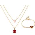 S-291 Xuping Mode indischen Goldschmuck einfache Perle Design Armband + Halskette zwei Stücke vergoldet Schmuckset für Frauen