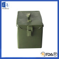 Green Metal Mailbox Post com ganchos