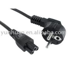 Conjunto de cabo de alimentação para notebook com cabo de conector C5 c5 cabo