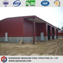 Edificio de estructura metálica para almacenamiento móvil