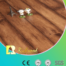 12.3mm Woodgrain Texture Maple V-Grooved Sound Absorbing Laminate Flooring