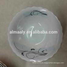 Cuenco de porcelana de corte personalizado para comida o sopa