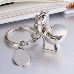 Stool Toilet Key Chain Ring Keyring