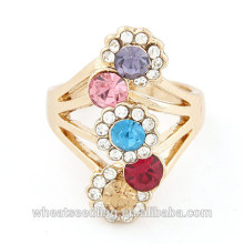 2014 Fashion Jewelry Shining Diamond Ring Wedding Ring with Sun Flower Size at 24mm for women