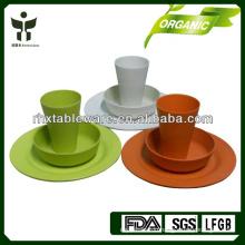 china 2015 new bamboo tableware set